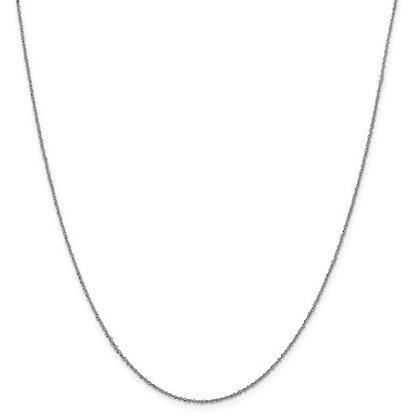 14K White Gold Diamond Cut Sparkle Chain