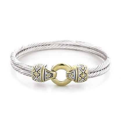 Gold Silver Double Bracelet