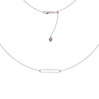 Mini Sterling Silver Adjustable Bar Choker Necklace