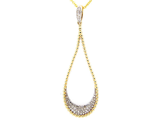 14K Soho Teardrop Diamond Necklace