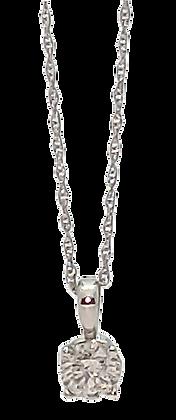 14K White Gold .35 ct. Diamond Pendant