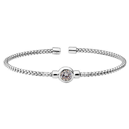 Sterling Silver Rhodium Finish Bracelet