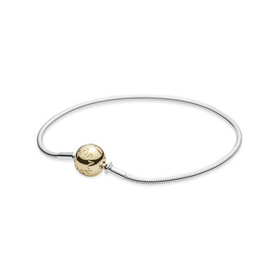 Sterling Silver Bracelet with 14K Gold Clasp