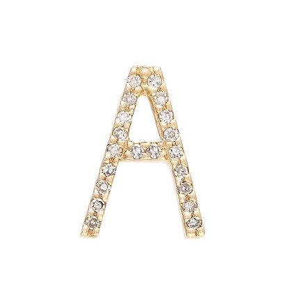 "14k Diamond Block Letter Initial 16"" Necklace"