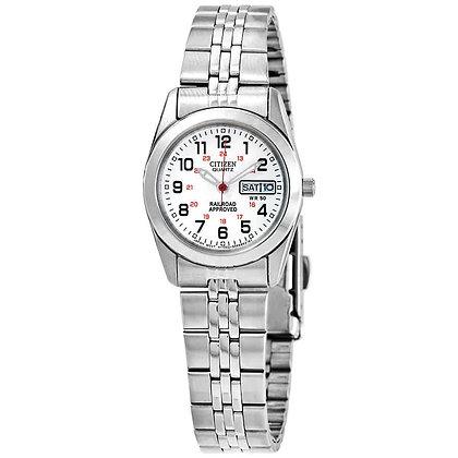 Quartz Silver Tone Stainless Steel Sport Watch