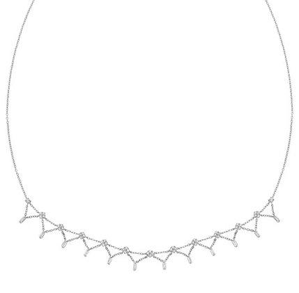 14K White Gold Diamond Collar Necklace