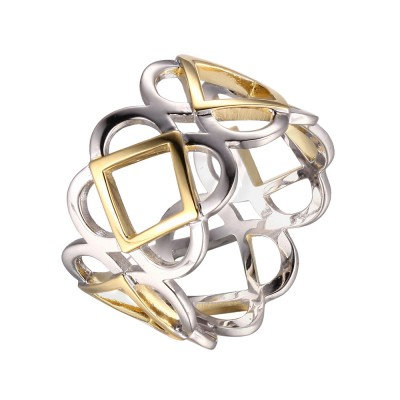 Open Weave Two Tone Ring Boldly Goes Wherever You Want it to Go!