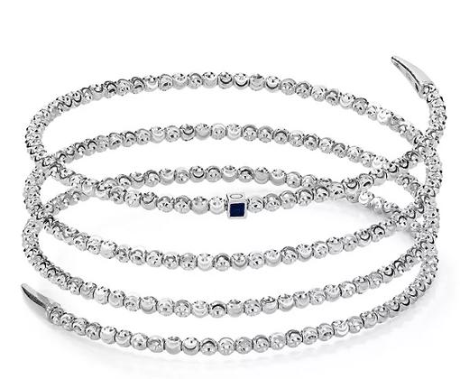 Sterling Silver Moon Molla Diamond Cut 4 Row Bead Bracelet