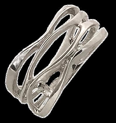 14K White Gold Open Basket Ring