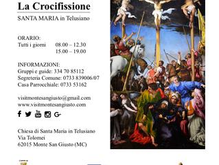 Santa Maria in Telusiano e Crocifissione di Lorenzo Lotto: nuovi orari di apertura