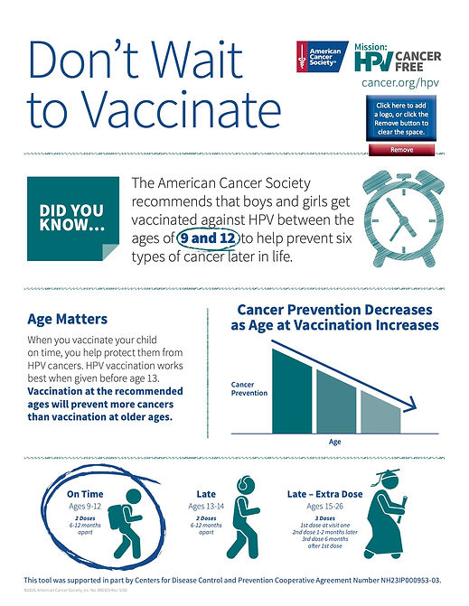 Mission HPV Cancer Free Don't Wait To Va
