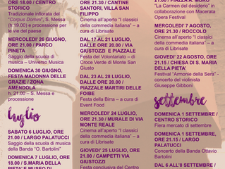 Monte San Giusto presenta un calendario ricco di eventi per l'estate 2019