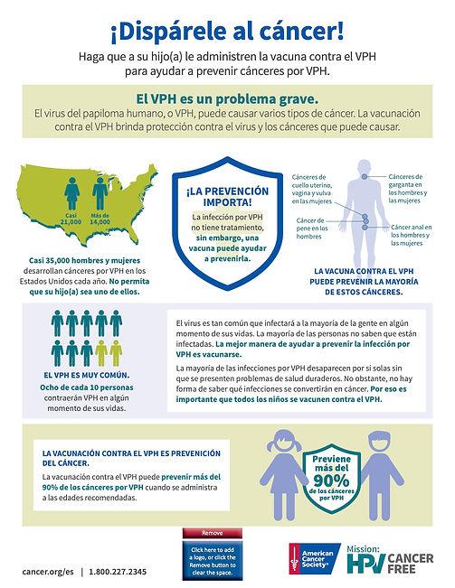 HPV Vaccine Co-Brand Parent Handout - Sp