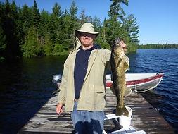 Kinewan Lake fly in walleye fishing