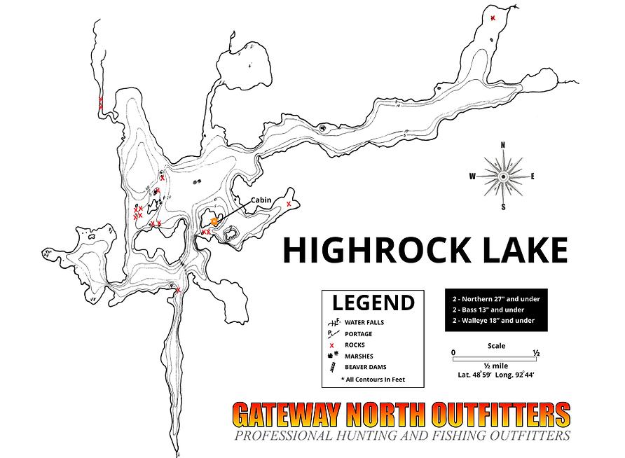 highrock lake Ontario mapg