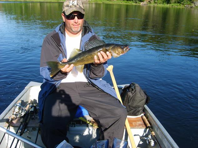 walleye on remote lake
