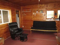 fly in fishing cabin