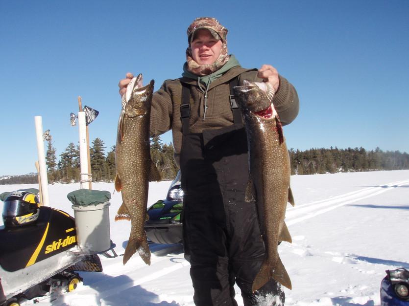 Ontario ice fishing trip