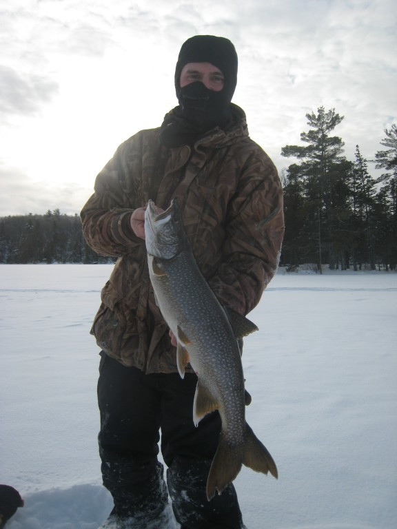 lake trout ice fishing