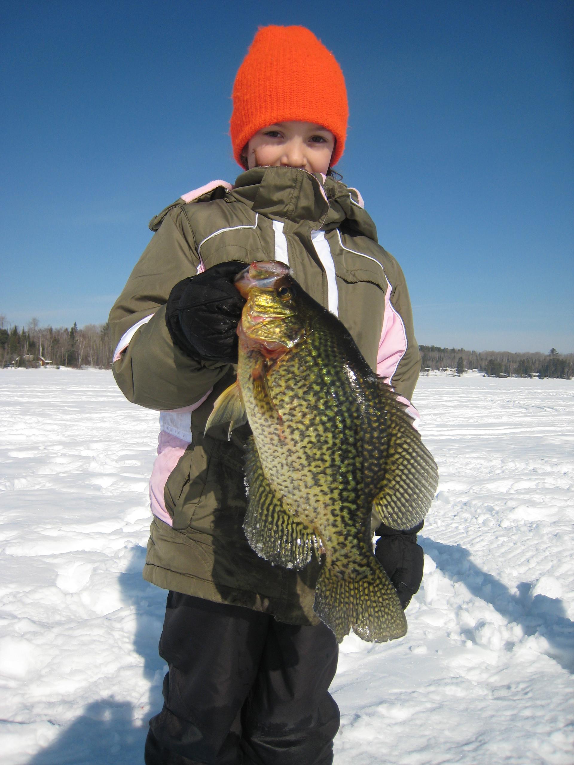 ice fishing crappie