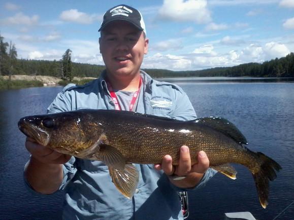 fishing walleye in Ontario
