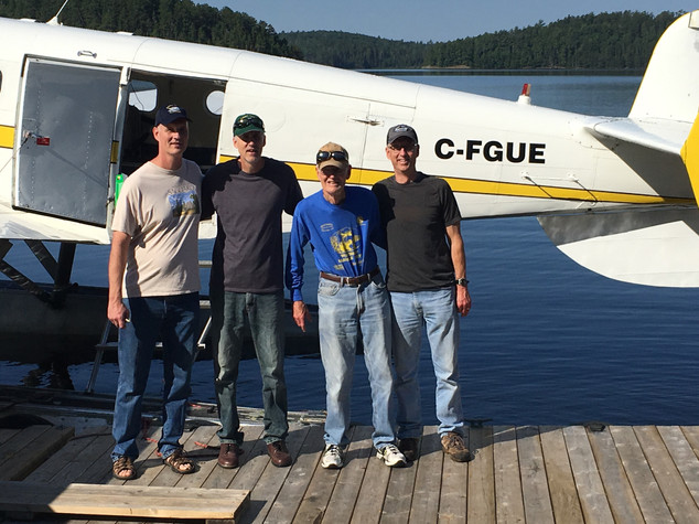 Fly-in fishing group