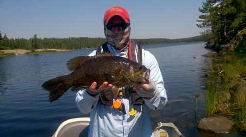 Bass fishing near Emo