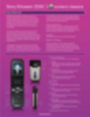 Sony Ericsson Modern Classics Promotionl Card