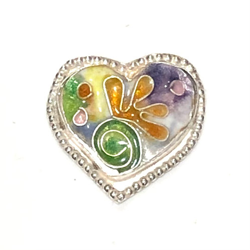 Psychedelic heart ring