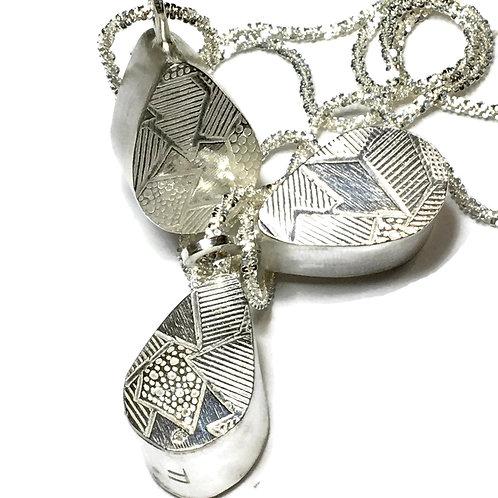 Custom reliquary, memorial jewelry