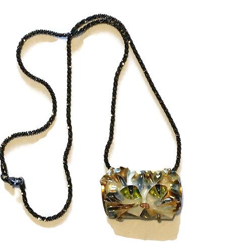Cloisonne pin/pendant of cat