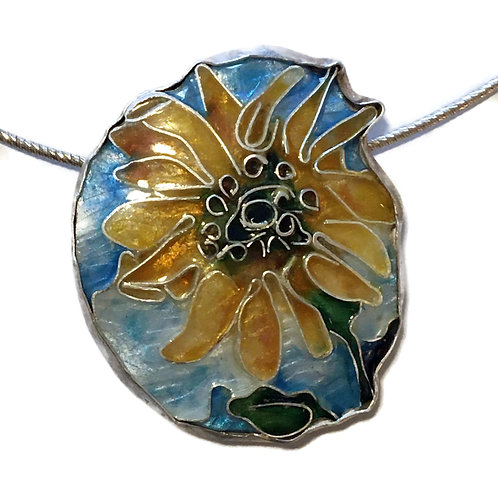 Pin/pendant of sunflower