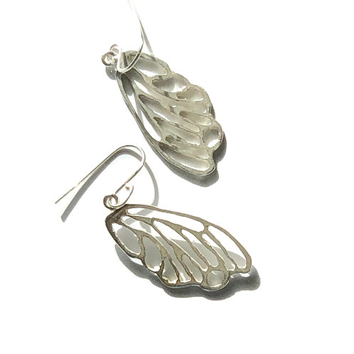 Sterling silver wing earrings