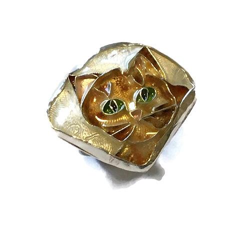 Cloisonné cat ring