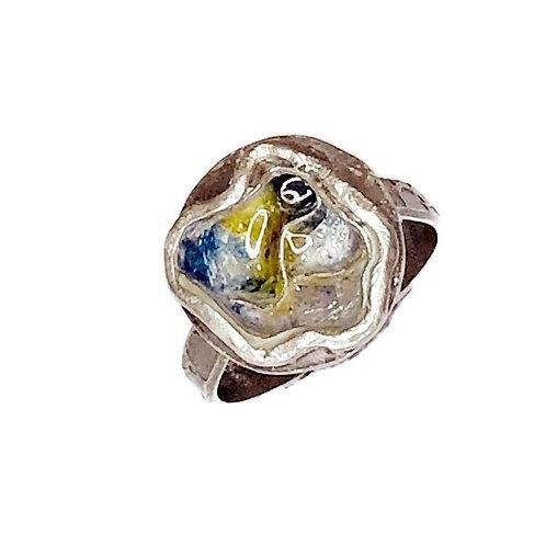 Enameled Bowl Ring