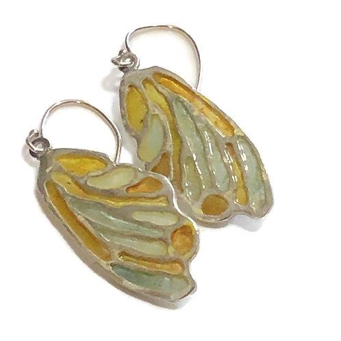 Plique' a jour wing earrings'