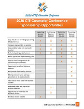 2020 CTE Counselor Conference Sponsorshi