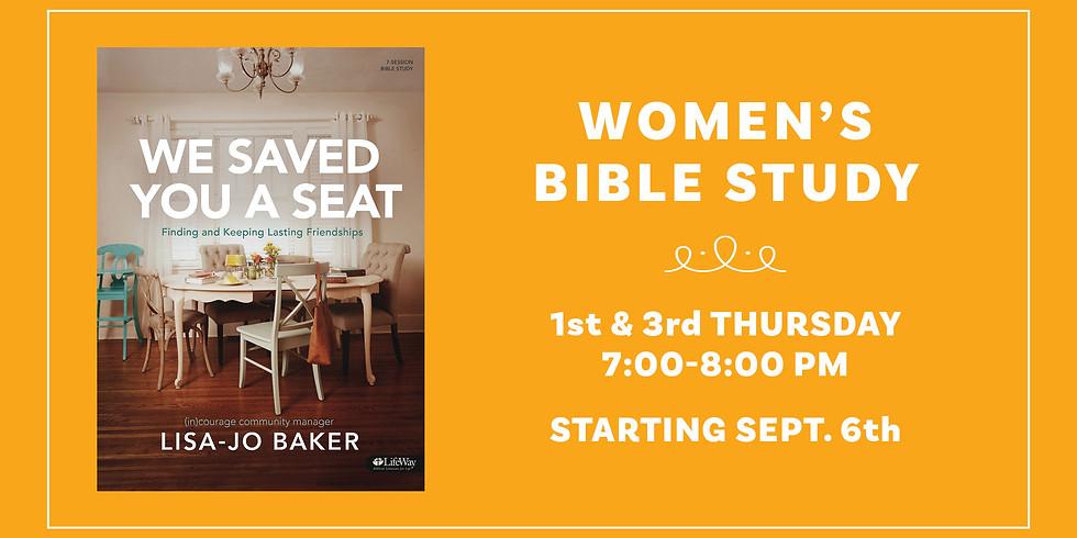 "Women's Bible Study - ""We Saved You A Seat"" (1)"