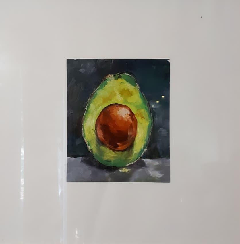 Avocado oil painting
