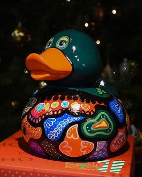 elena-gontcharova-green-duck-sculpture (
