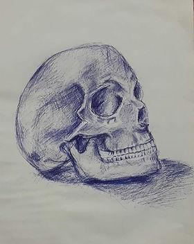 elena-gontcharova-pen-drawing-skull-stud