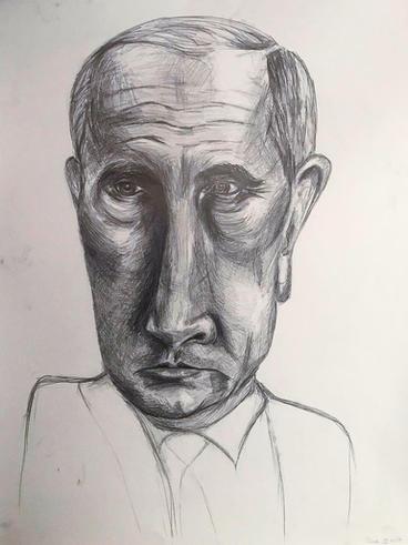 Carricature drawing Putin