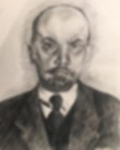 elena-gontcharova-pencil-portrait-lenin_