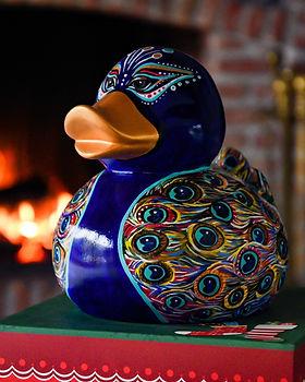 elena-gontcharova-peacock-duck-sculpture