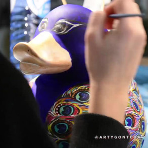 """""""Peacock duck"""" making of"""