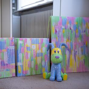 Pastel Summer Series &, 2&3 + Puppy Blue