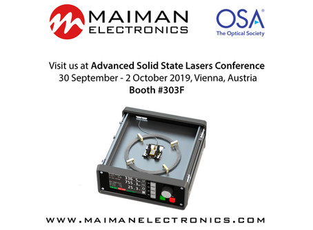 Invitation for the Advanced Solid State Lasers Conference in Vienna, Austria