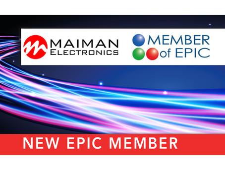 Maiman Electronics became EPIC member