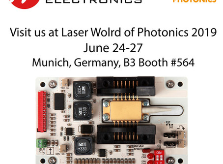 Invitation for the LASER World of PHOTONICS 2019 in Munich, Germany