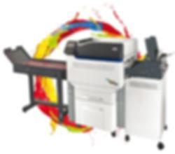 Digitales Drucksystem CMYK Sonderfarbe Weiss Klarlack